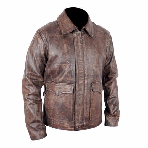Indiana Jones Harrison Ford Indy Distressed Brown Leather Jacket