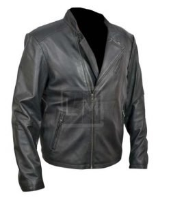 Iron Man Black Biker Faux Leather Jacket