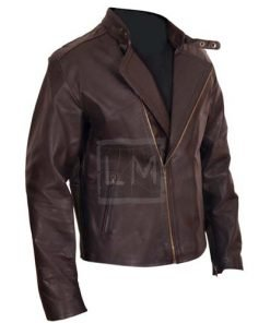 Iron Man Brown Biker Faux Leather Jacket