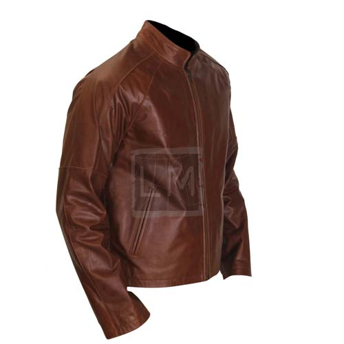 d3e4497729af New Jack Reacher Tom Cruise Genuine Leather Jacket Brown Cowhide ...