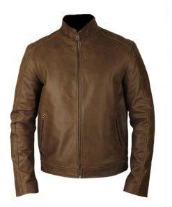 Jason Bourne Brown Leather Jacket