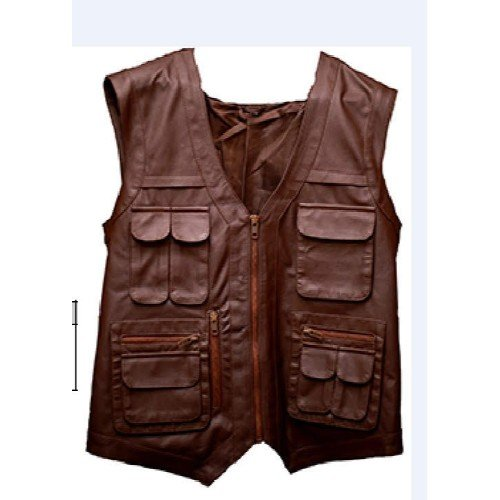 Jurassic World Faux Brown Leather Vest