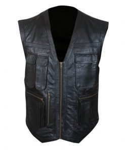 Jurassic World Chris Pratt Owen Grady Black Leather Vest