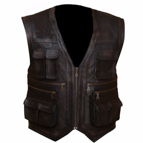 Jurassic World Chris Pratt Owen Grady Genuine Leather Vest