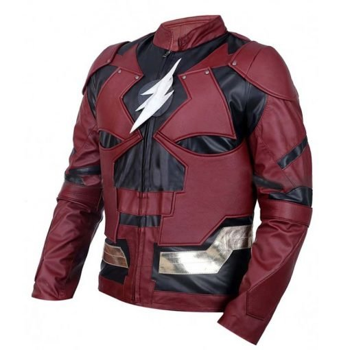 Justice Leather The Flash Burgundy Faux Leather Jacket