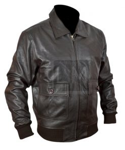The Last Stand Arnold Schwarzeneggar Brown Genuine Leather Jacket