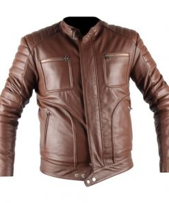 Leo Belstaff Genuine Brown Biker Real Leather Jacket