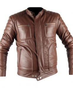 Leo Belstaff Brown Faux Leather Jacket