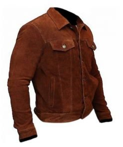 Wolverine 3 Logan Hugh Jackman Genuine Real Suede Leather Jacket