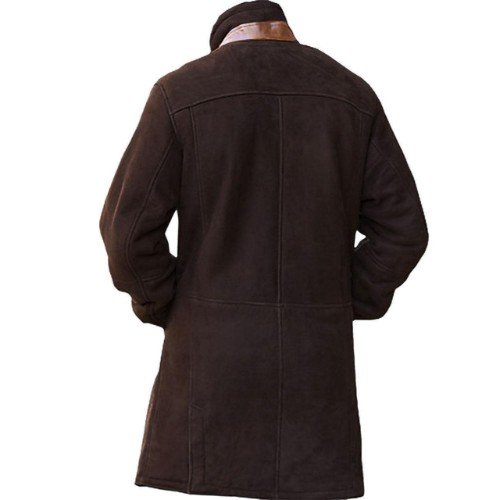 Longmire Brown Genuine Real Leather Coat