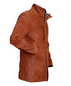 Longmire Tan Brown Genuine Real Leather Coat