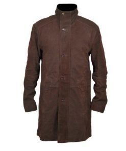 Sheriff Walt Longmire Long Brown Leather Coat Robert Taylor