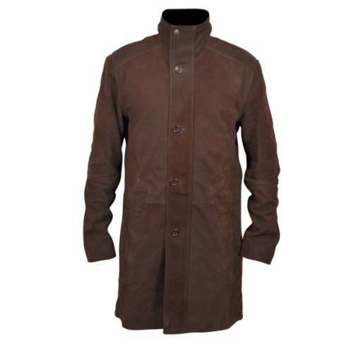 Longmire Sheriff Walt Brown Leather Long Coat
