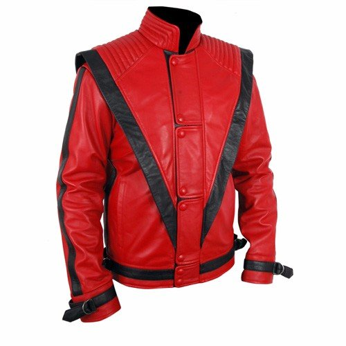 Michael Jackson Thriller Red Genuine Leather Jacket