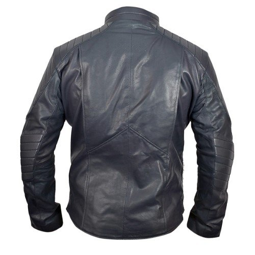 Man of Steel Midnight Blue Leather Jacket