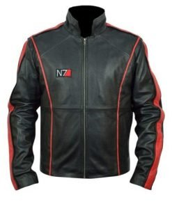 Mass Effect 3 Black Biker Faux Leather Jacket