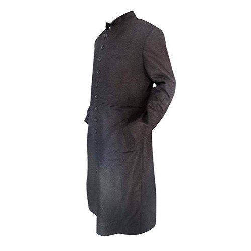 Matrix Neo Keanu Reeves Full Length Woolen Trench Coat