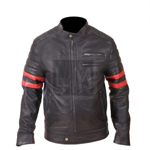 Mayhem Punk Black Cowhide Leather Jacket Biker Jacket