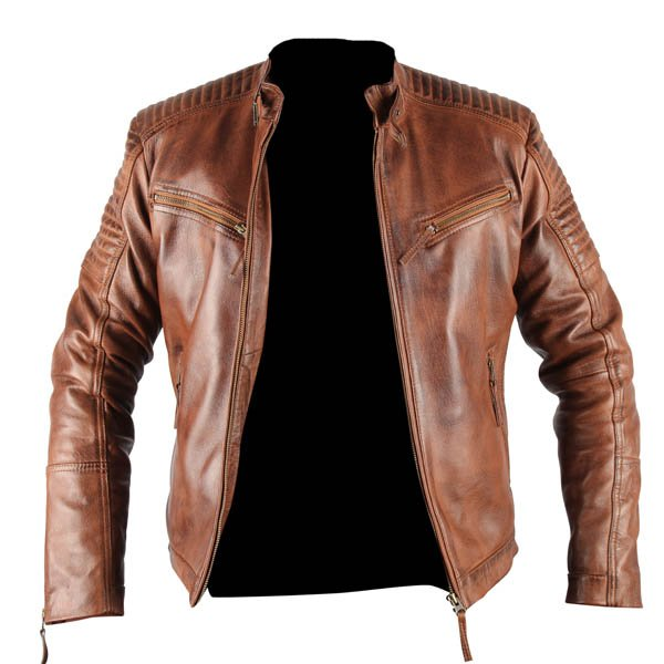 Mens Xposed Tan Genuine Leather Jacket | Leather Madness