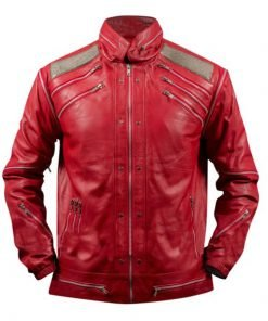 Michael Jackson Beat It Red Leather Jacket