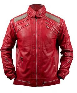 Michael Jackson Beat It Faux Red Leather Jacket