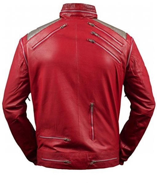 Michael Jackson Beat It Genuine Red Leather Jacket