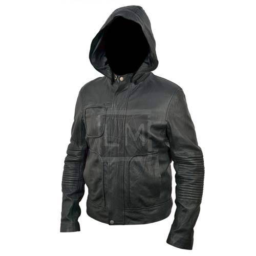 Tom Cruise Mission Impossible 4 Ghost Protocol Hooded Genuine Leather Jacket