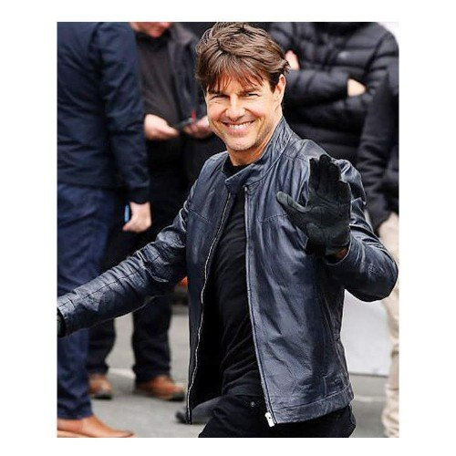 Mission Impossible Blue Genuine Real Leather Jacket