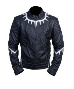 Avengers Infinity War Black Panther Faux Leather Jacket