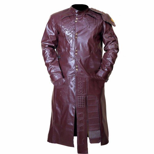 NEW STAR LORD GUARDIANS OF GALAXY FAUX LEATHER LONG COAT