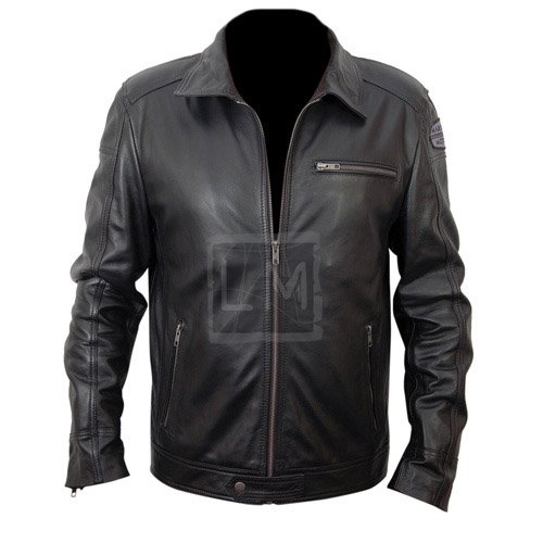 NFS Need For Speed Black Biker Leather Jacket