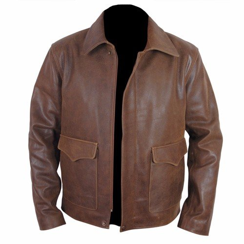 Indiana Jones Harrison Ford Indy Faded Brown Leather Jacket