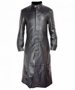 Matrix Genuine Leather Long Coat