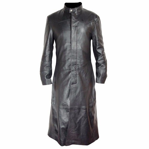 New Matrix Long Leather Coat