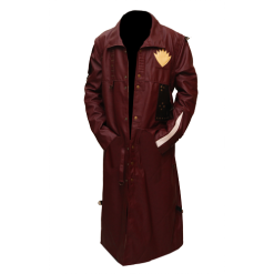 New Star Lord Faux Leather Long Coat 5
