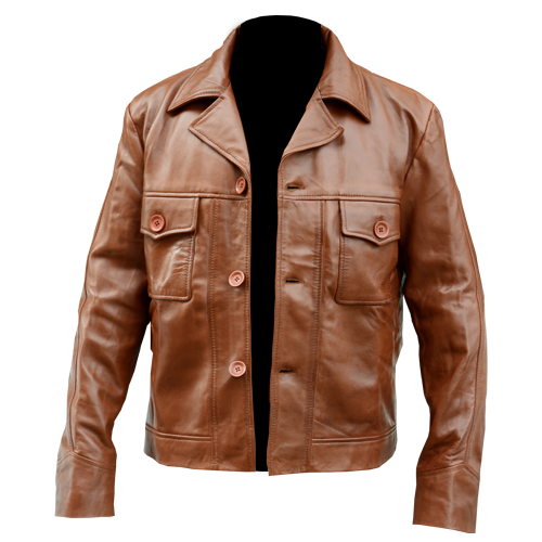 Once Upon A Time In Hollywood Brown Genuine Leather Jacket