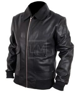 The November Man Pierce Brosnan Black Bomber Leather Jacket