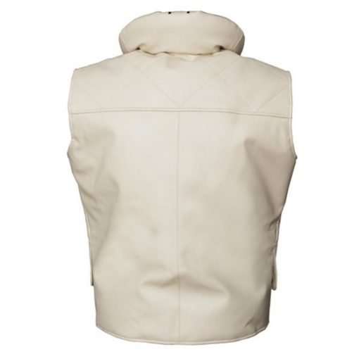 Princess Leia Star Wars Off White Genuine Real Leather Vest
