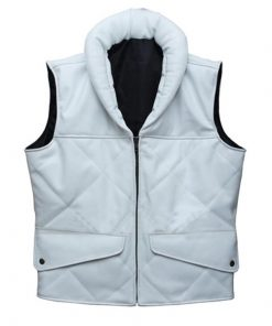 Princess Leia Star Wars White Faux Leather Vest