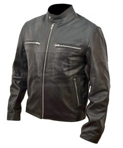 RIPD Kevin Bacon Black Cowhide Genuine Leather Jacket