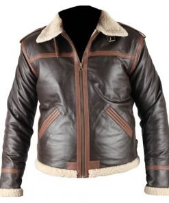 Resident Evil 4 Brown Faux Leather Jacket