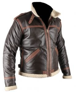 Resident Evil 4 Genuine Brown Real Leather Jacket