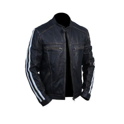 Resident Evil Leon Kennedy Genuine Real Leather Jacket