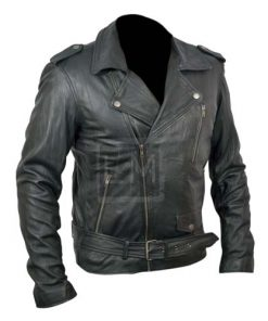Ryan Gosling Black Biker Faux Leather Jacket