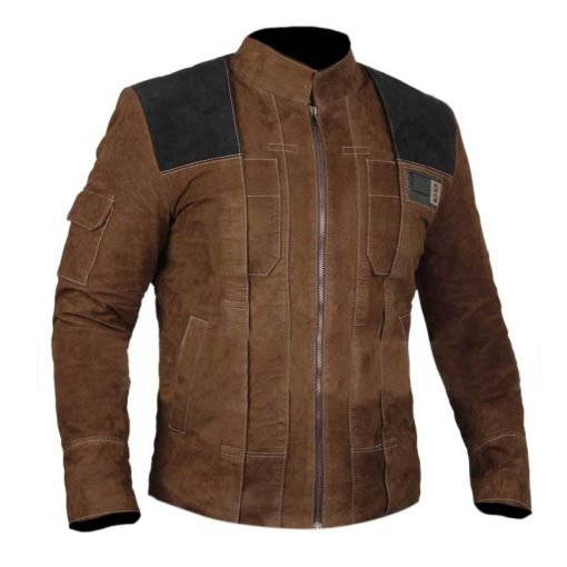 SOLO A Star Wars Story Light Brown Genuine Suede Leather Jacket