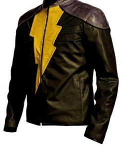 Shazam Black Faux Leather Jacket Costume