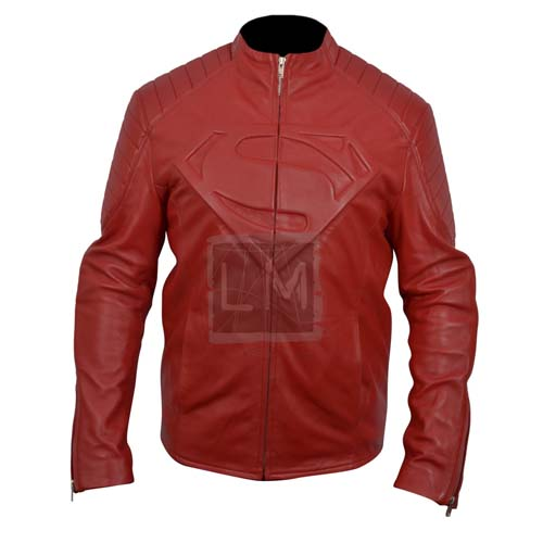 Smallville Red Genuine Leather Jacket