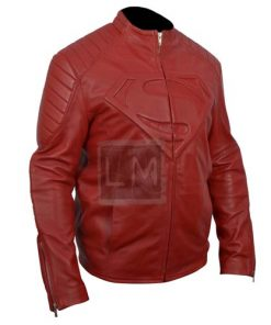 Smallville Superman Red Faux Leather Jacket