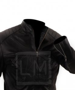 Smallville Superman Black Genuine Real Leather Jacket