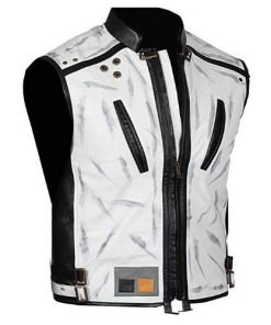 Solo A Star Wars Story Alden Ehrenreich White Leather Vest